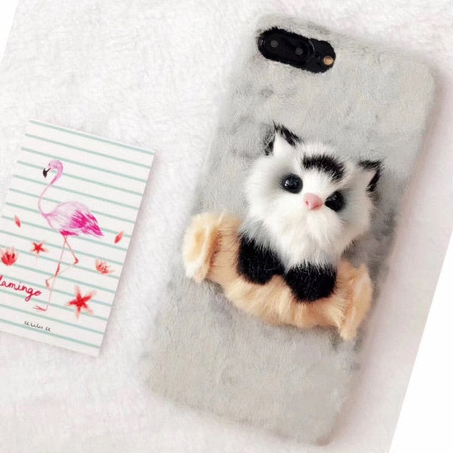 Lovely Cat Furry iPhone Case