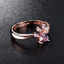 Load image into Gallery viewer, Cute Rose Gold Cat Ring