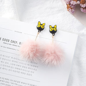 3D Cat Stud Earrings
