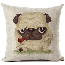 Load image into Gallery viewer, Dog Pug Cushion Pillow Cover
