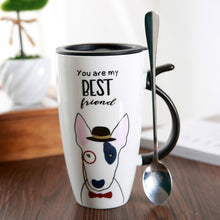 Load image into Gallery viewer, Cute Dog Ceramic Mug with Lid and Spoon