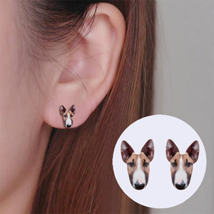 Bull Terrier Stud Earrings