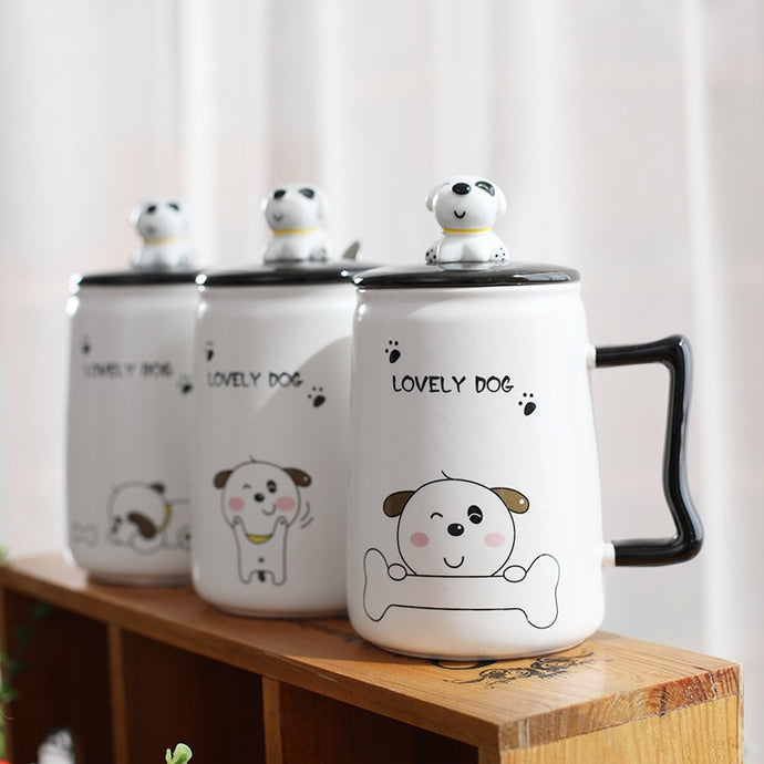 Cartoon Dog Ceramic Mug