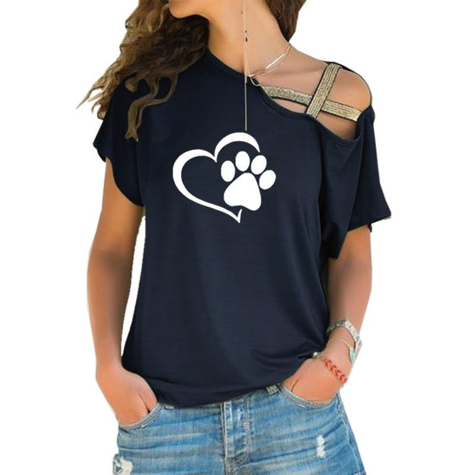 Adorable Cat Dog Paw T-shirt