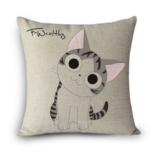 Load image into Gallery viewer, Cartoon Cat Pillow Case