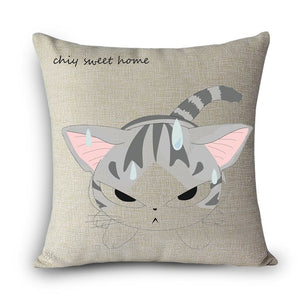Cartoon Cat Pillow Case