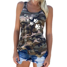 Load image into Gallery viewer, Camouflage Cat Dog Paw T-Shirt