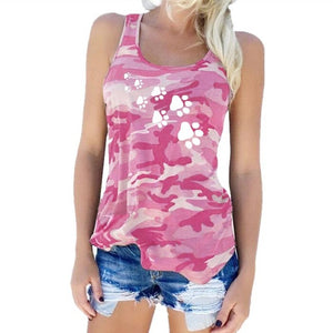 Camouflage Cat Dog Paw T-Shirt