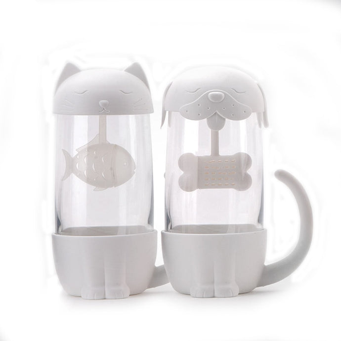 300ml Tea Strainer Cat Dog Infuser Cup