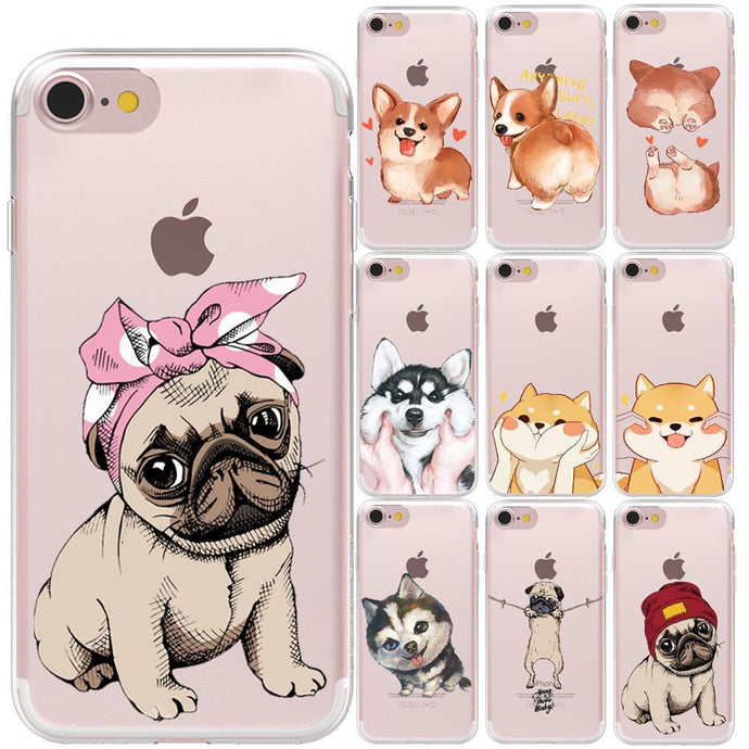 Cute Pug dog iPhone Case