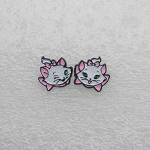 Load image into Gallery viewer, Marie Cat Enamel Earrings