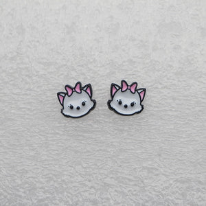 Marie Cat Enamel Earrings