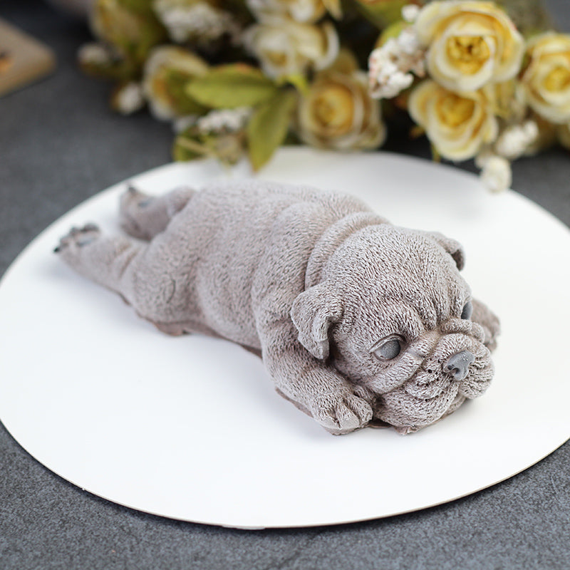 Cute 3D Dog Silicone Mold Cake