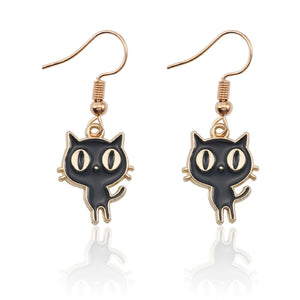 Cartoon Cat Earrings