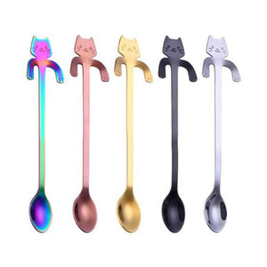 4 Pcs Stainless Steel Cat Spoons