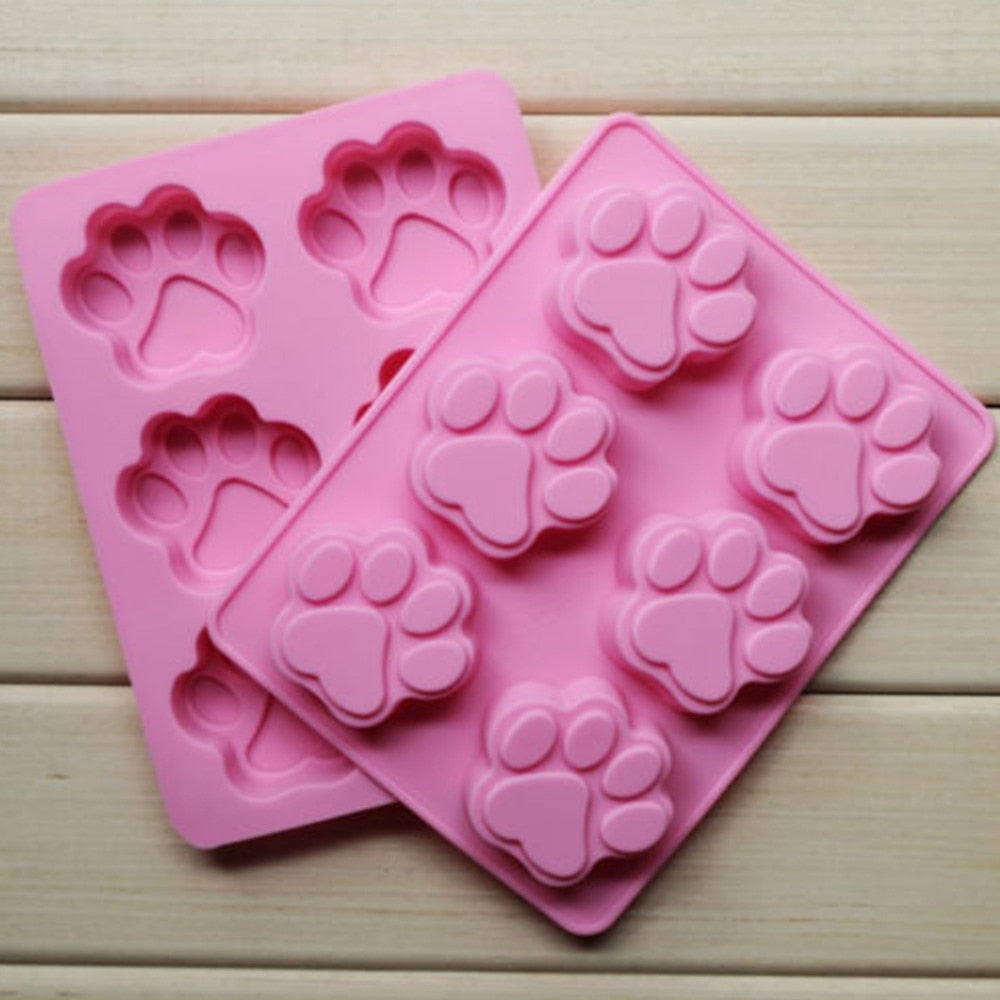 Cookie Baking Molds Paw Silicone