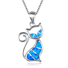 Load image into Gallery viewer, Opal Cat Necklace