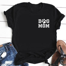 Load image into Gallery viewer, Adorable Dog Mom T-shirt