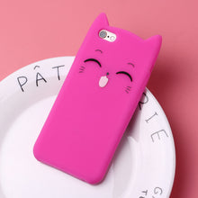 Load image into Gallery viewer, Cute 3D Silicone Cat Case