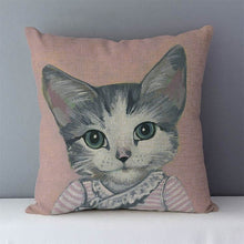 Load image into Gallery viewer, Cartoon Cat Printed Pillow Case