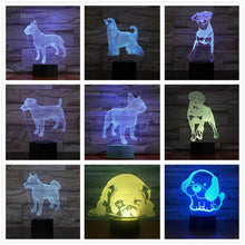 Load image into Gallery viewer, Adorable 3D Dog Lamp