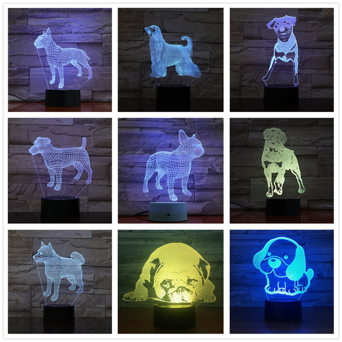 Adorable 3D Dog Lamp
