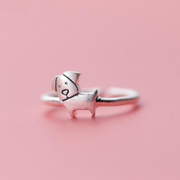 925 Sterling Silver Cute Dog
