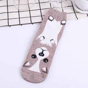 Cute Dog Printed Socks