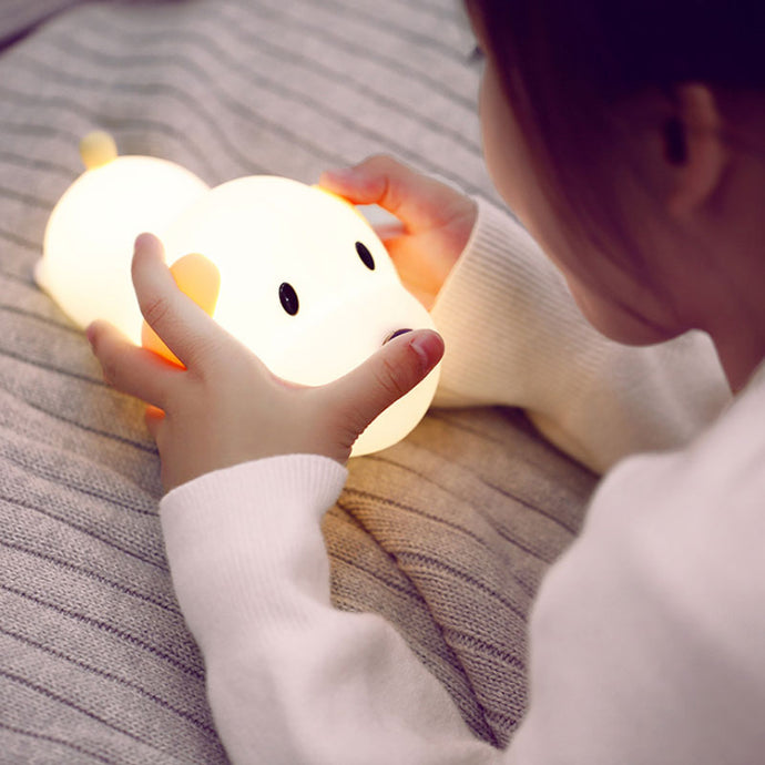 LED Dog Night Light Lamp