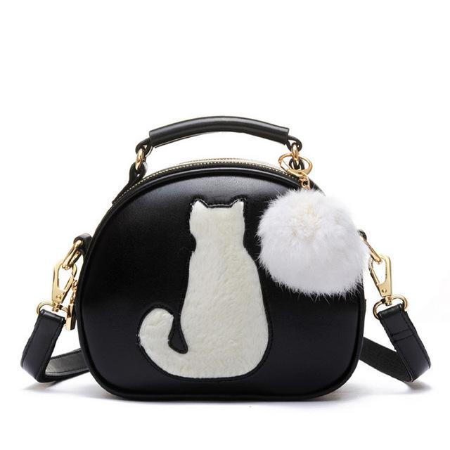 Cute Cat Leather Bag