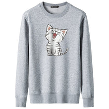 Load image into Gallery viewer, Cute Cat Print Sweatshirt
