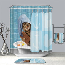 Load image into Gallery viewer, Cute Cat Shower Curtain