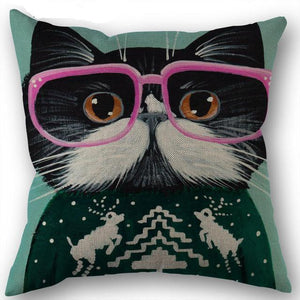 Artful Cat Pillow Case