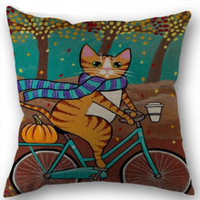 Load image into Gallery viewer, Artful Cat Pillow Case