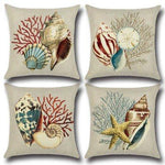 Conch Ocean Theme Pillow Case Car Home Sofa Bed Decor
