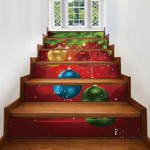 Christmas Balls Pattern Removable Stair Stickers