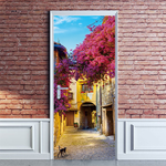 New 3D Simulation Beautiful Town Door Stickers