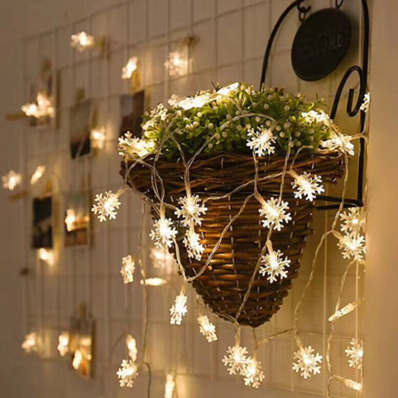Christmas Snowflake LED String Light Bedroom Home Decor