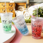 Summer Cold Cups Custom Fashion Green Gradient Color Suction Cups Men and Women Drink Water Cups