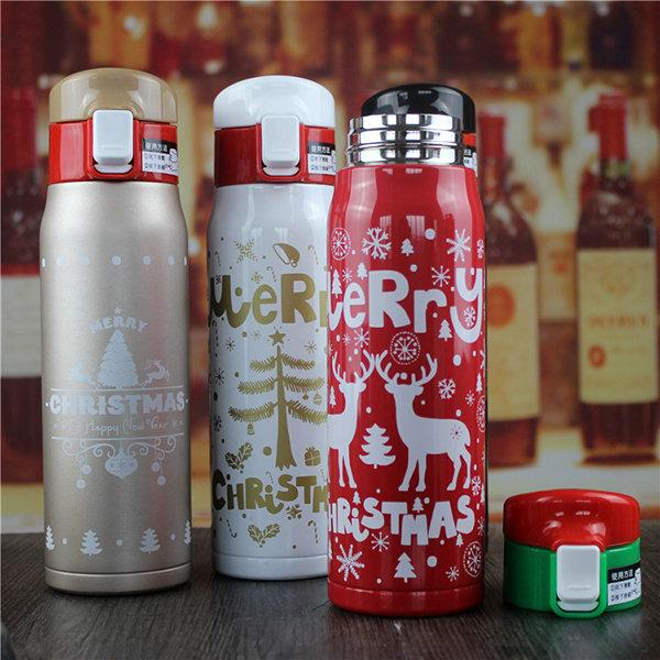 500ml Christmas Couple Cup Male Ladies Thermose Bottle Stainless Steel Kettle