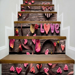 Love Petal Stair Riser Stickers