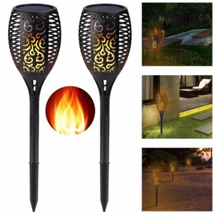 96LED Solar Flame Light Outdoor Garden Lawn Light Garden Landscape Torch Light