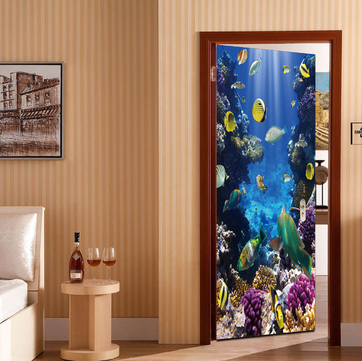 Underwater World Creative Door Sticker