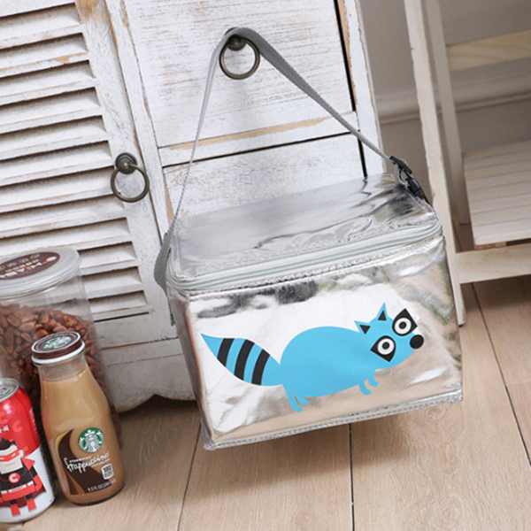 Women Cartoon Anime Pattern Ice Bag Student Insulation Portable Lunch Bag