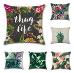 Rain Forest Theme Pillow Case Car Home Sofa Bed Decor