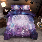 Fade Resistant Starry Covers And Dream catcher Unicorn Printed 3-Piece 3D Polyester Bedding Sets Duvet Covers