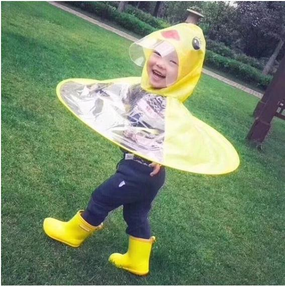 Children's Duck Raincoat Children's Cartoon Raincoat