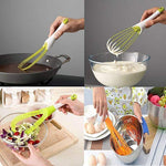 Egg Beater Kitchen Baking Multi Function Manual Rotary Egg MIXER Food Grade Plastic Folding Agitator Kitchen Tools