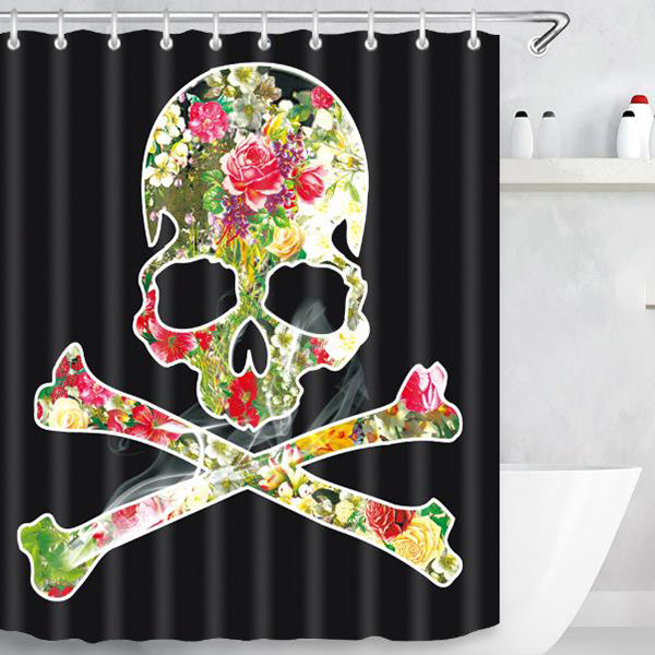 Halloween Skull Pattern Shower Curtain