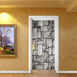 Brick pattern 3D Stereo Door Sticker